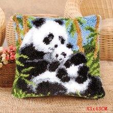 Милая панда Foamiran для рукоделия, для ковра, подушки с вышивкой, набор крючков, Tapis, вязание пуговица, подушка, посылка животного(Китай)