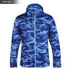 Men's Fleece Camo Jacket Kangaroo Pocket Fix Hoodie Full-zip Outdoor Casual Warm Coat