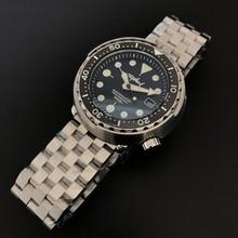 Sapphire Crystal Мужские автоматические часы, консервированный тунец, погружные часы, Супер Светящиеся, механические часы, NH35, 300 м(Китай)