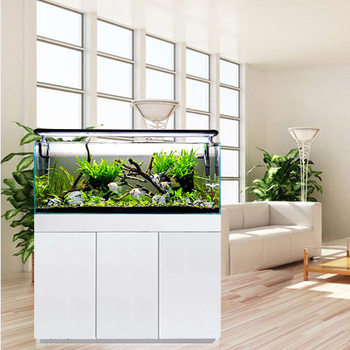 Hot sales factory customized fish tank super white cabinet aquarium