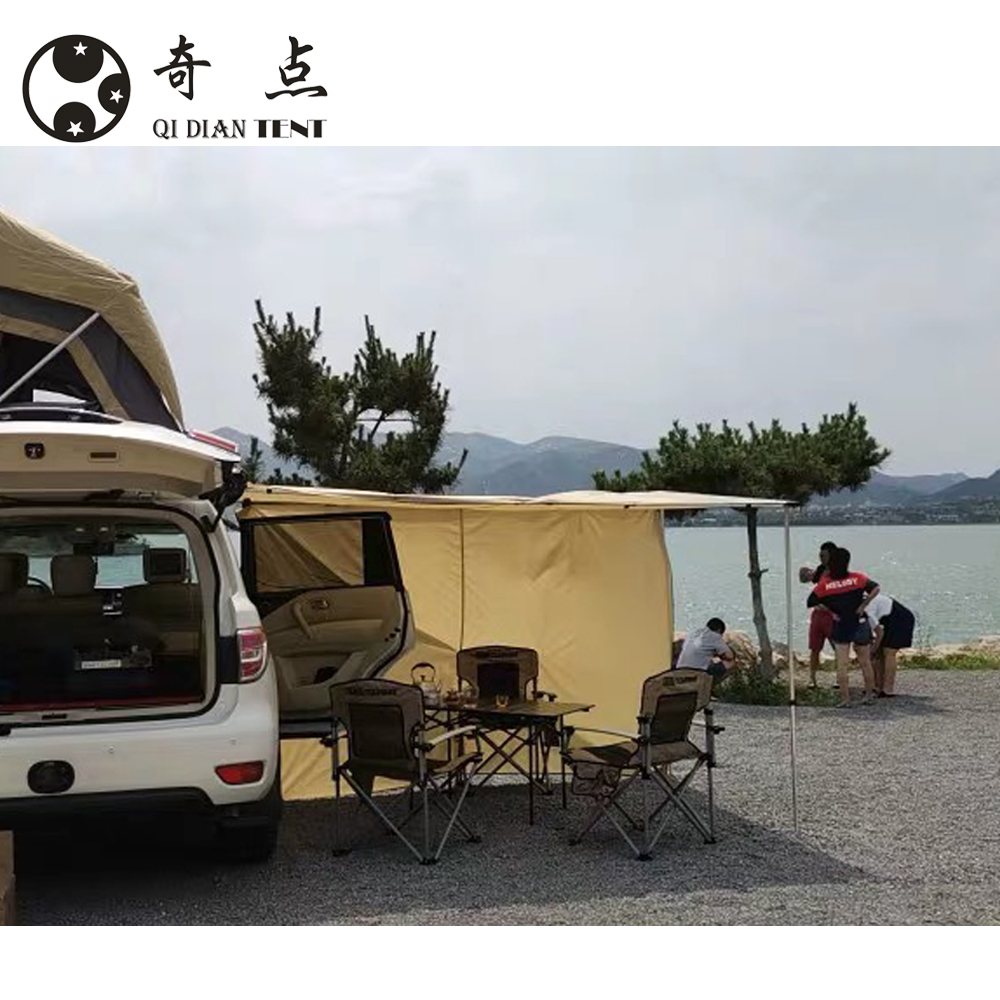China Manufacturer Pull Out Roof top tent 4x4 Car Side Awning Sun Shelter Tent Waterproof Ultraviolet-proof