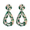 Color 5 rhinestone drop earrings
