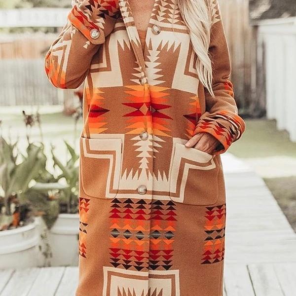 2020 рукава открытой передней с цветочным принтом для маленьких девочек кружевная отделка, кимоно в ацтекском стиле кардиган Женские пальто Зимние племени ацтеков Стиль
