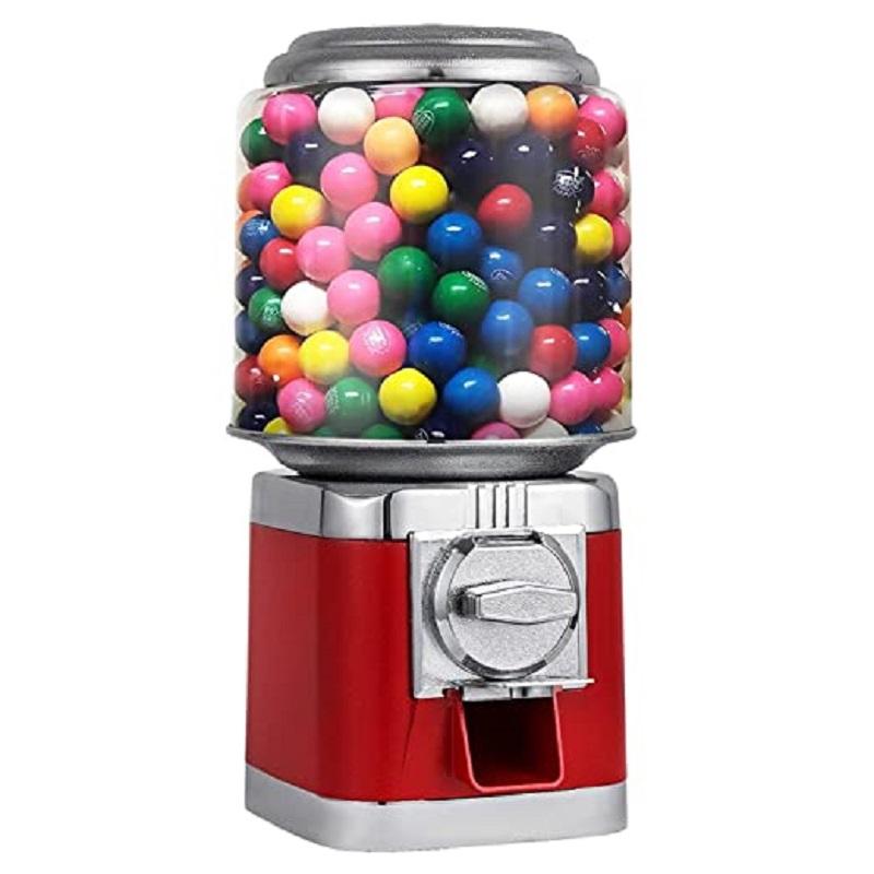Торговый автомат для конфет в красном стиле, прочный металлический корпус, диспенсер для жевательных шариков, машина с замком для ключей, машина для жевательных шариков для домашнего Игрового Магазина