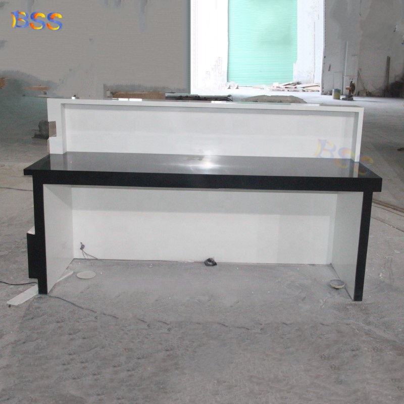 Светодиодный мраморный современный офисный стол для салона красоты