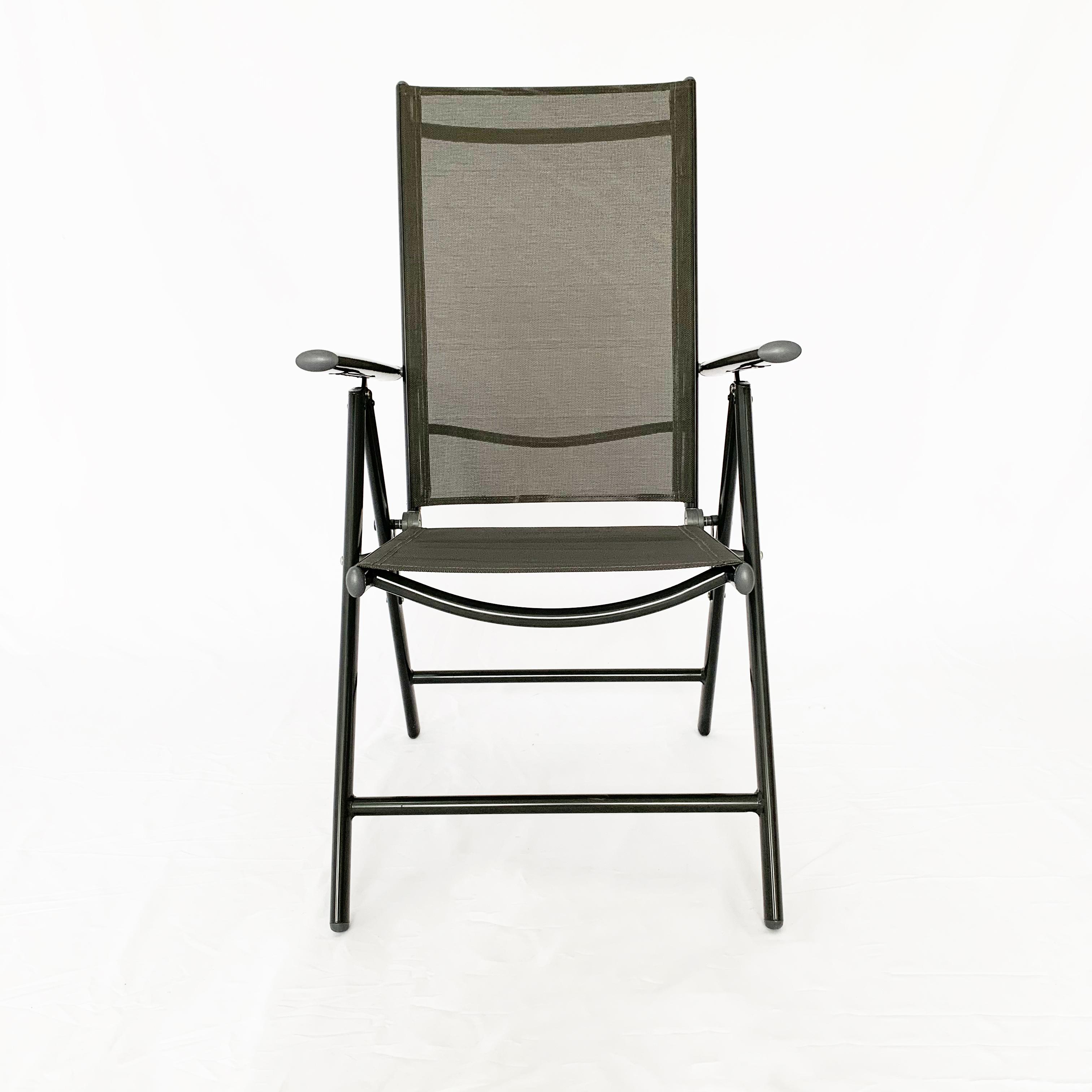Fashion Practical steel frame 7 seven position outdoor garden folding chair