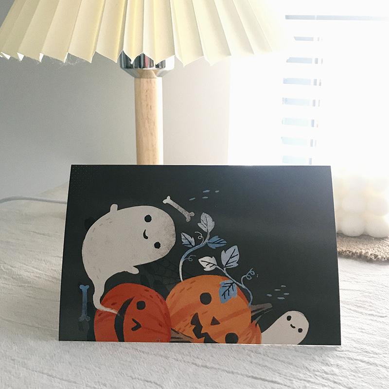 6 шт./компл. милые открытки на Хэллоуин ручной работы с вырезами из бумаги, поздравительные подарочные открытки