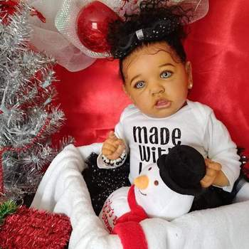 22 inch Little Tracy Alive Reborn Silicone Kids Toy Reborn Baby Doll Girl Toy For Children Gift
