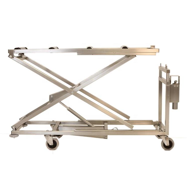 Morgue Electric Trolley Lift Stretcher Funeral Stretcher Mobile Body Stretcher Model: YSSJT-1D