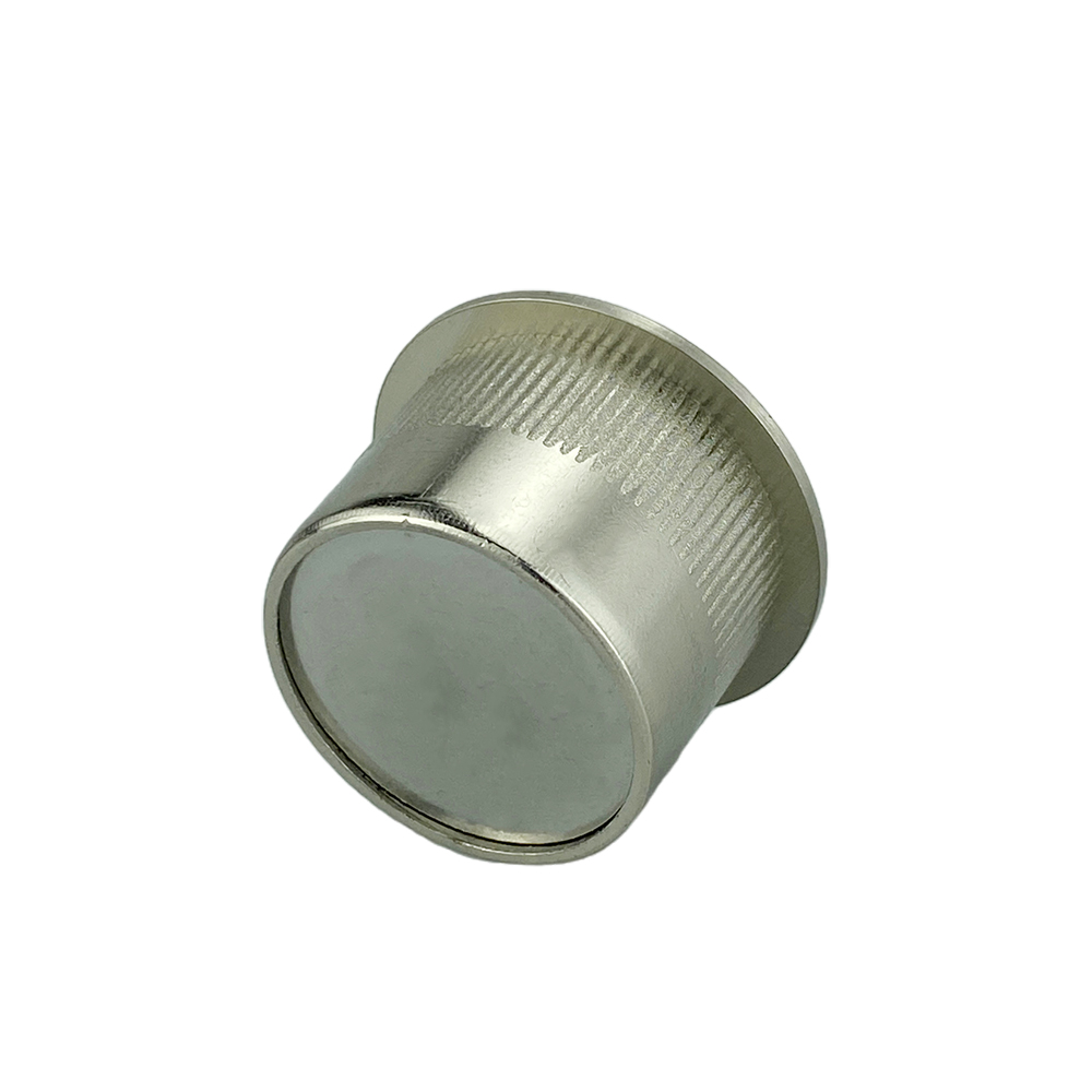 Zinc Alloy Round Cavity Pocket Recessed Sliding Door Finger Pull