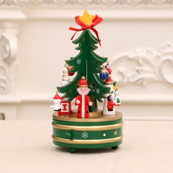 factory wholesale furniture stand Wooden Christmas Tree music box