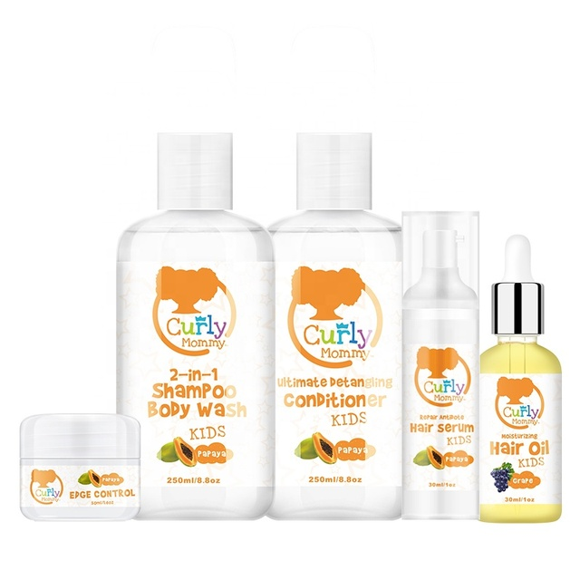 Curlymommy Private Label Kids Organic Curly Hair Products For Hair Repair Moisturize And Detangls