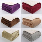 Mink Blanket Mink Fleece Blanket Customizable Oem Plush Double Layer Mink Sherpa Fleece Blanket Super Soft