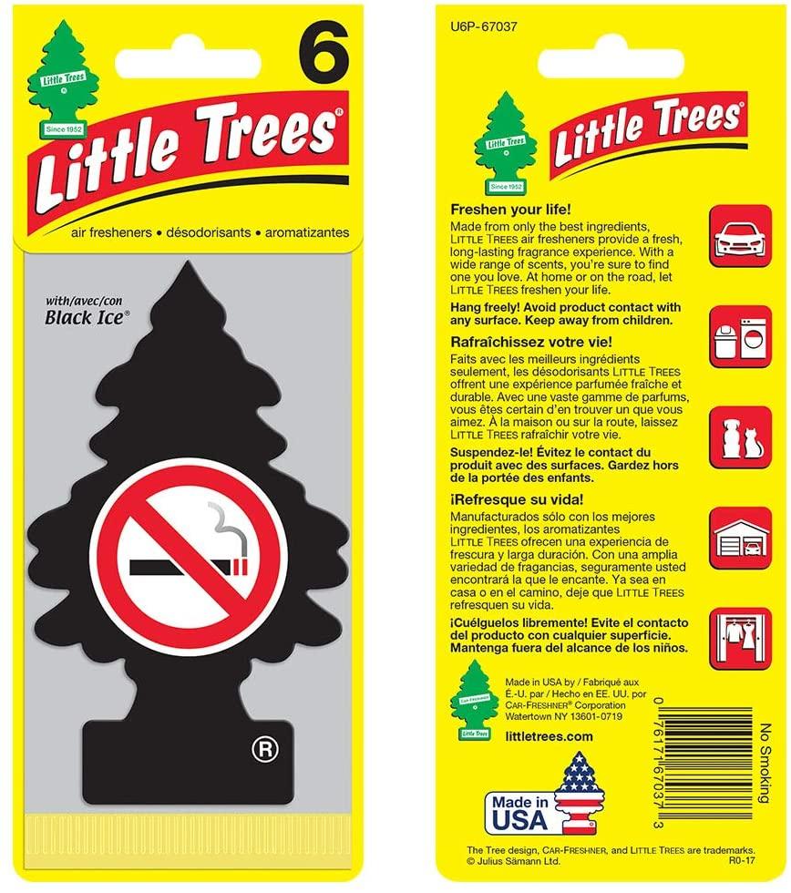 Ambientador De Papel Para Coche Colgante Auto Trees Tree Air Freshener Black Ice Little Treesair Freshener Black Ice