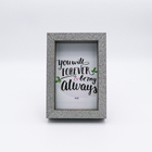 Family Frame Factory Wholesale European Style Thick Edge Vertical Family Wooden Photo Frame