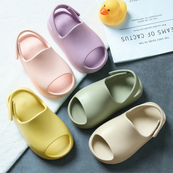 Hot sale super soft 100% real indoor EVA children's slippers children baby kids slides