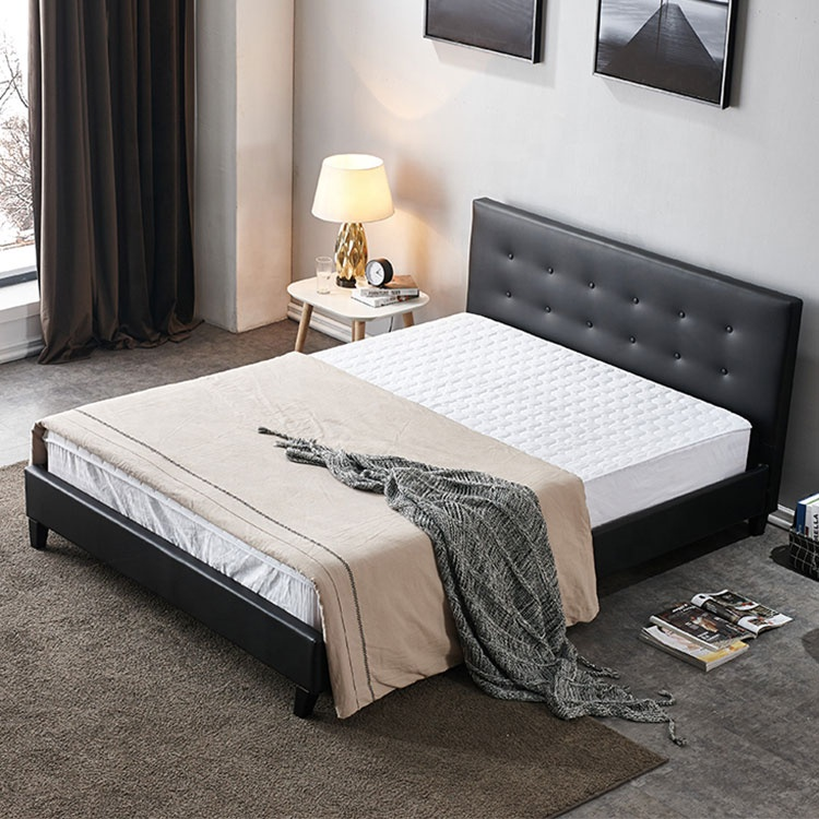 apartment house luxury modern pu leather queen size day beds furniture bed queen size bed