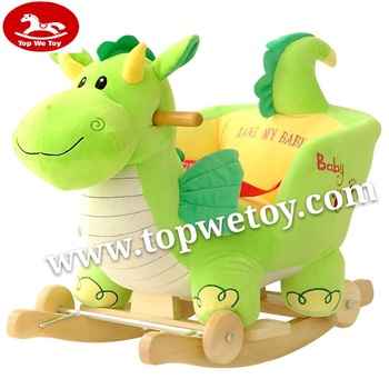 2019 Hot sales plush baby dinosaur rocking chair with baby lullaby music