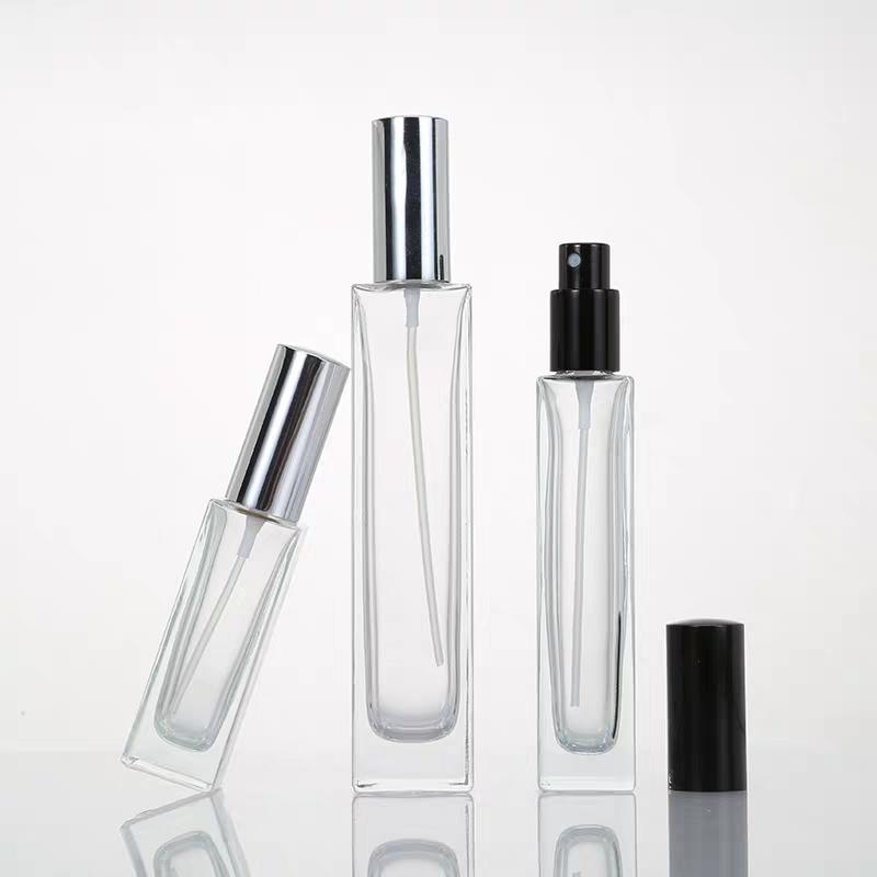 1 унция, стеклянный флакон для духов, квадратный стеклянный флакон для духов 100 мл, 30 мл, черные прямоугольные флаконы-капельницы для эфирного масла