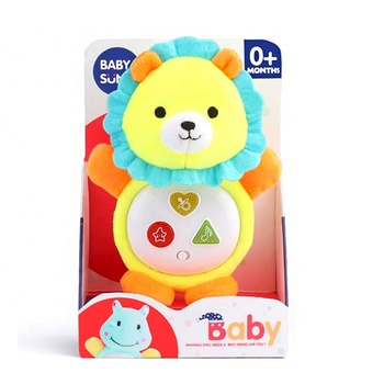 High Quality Musical Stuffed Plush Animal Toy with Appease Light and 3 Buttons Melody Smooth Sleeping Music