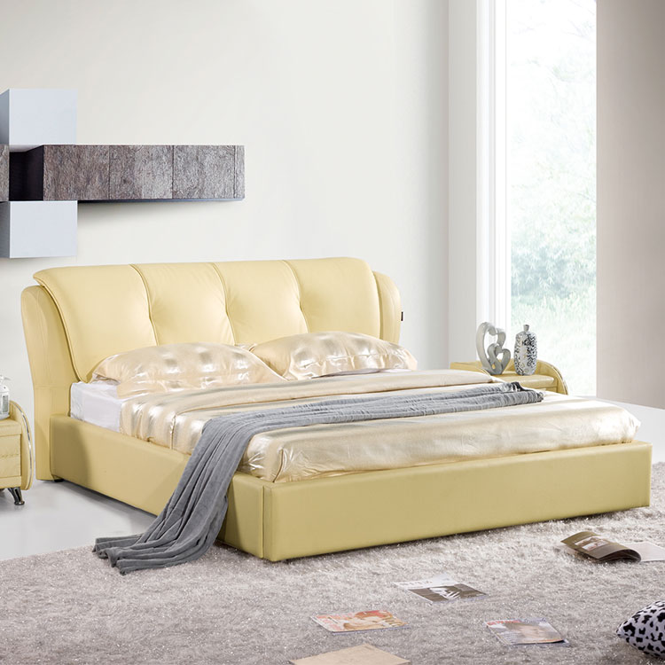 European style simple bed design tufted hotel room bed headboard king queen simple double design in woods simple bed