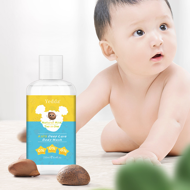 Prviate Label Kids Natural Curly Hair Shampoo Body Wash 2 In 1 Without Alcohol And Curly Free