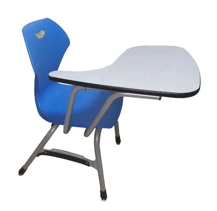 Оптовая продажа, ПП сиденье, деревянная доска, школьный стул для письма, офисный тренировочный стул с блокнотом для доски