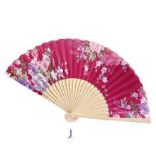 Традиционный китайский Винтаж бамбуковый складной Ручной Веер в виде цветка китайский Танцевальная Вечеринка карман подарки свадебные ве...(China)