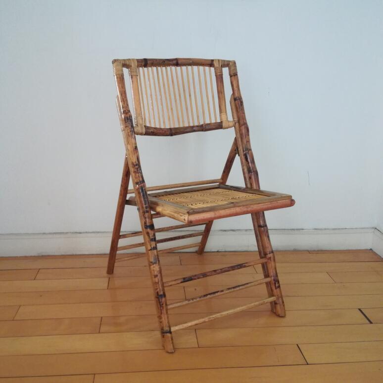 Дешевый винтажный Лидер продаж уличный садовый бамбуковый складной стул для мероприятий