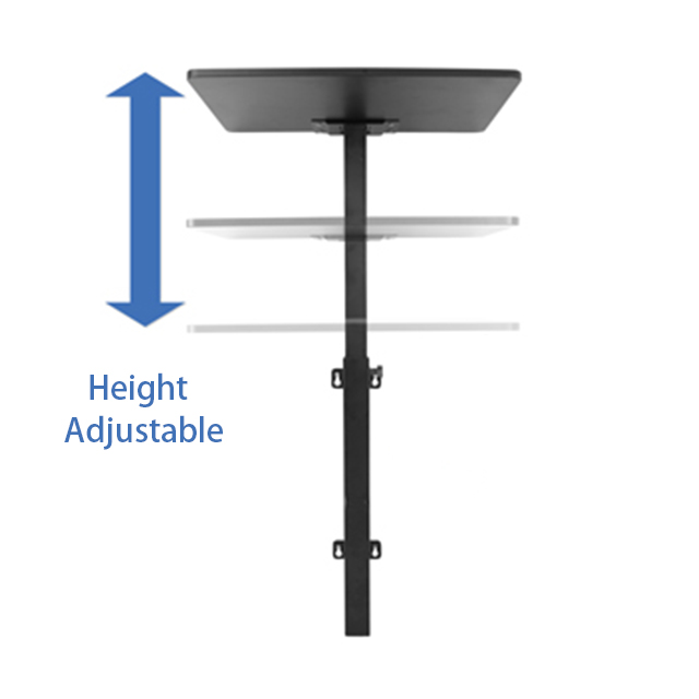 Height-Adjustable Wall Mounted Workstation