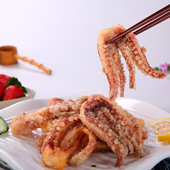 China hot sales Japanese food fried frozen flour squid cut