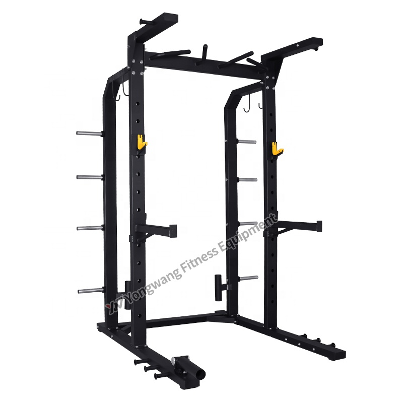 High quality Hot sale commercial fitness equipment gym use machine YW-1716B Half Power Rack