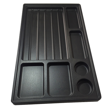 Custom vacuum formed ABS plastic pencil tray