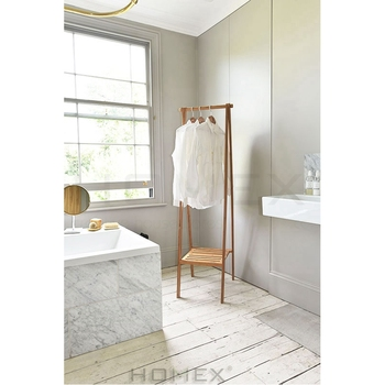 Bamboo Clothes Rack Drying Solid Construction/Homex_BSCI
