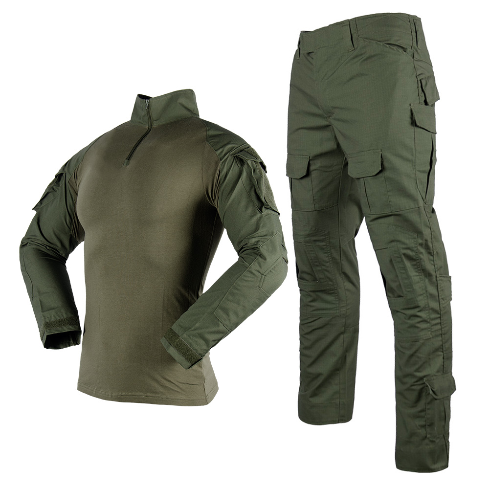 Военный Зеленый тактический боевой костюм Fronter