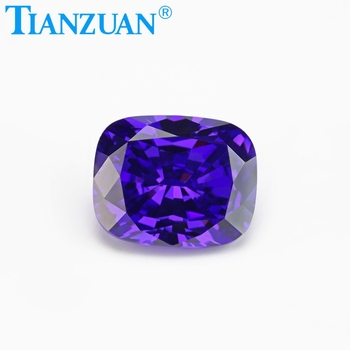 loose fake violet stones/synthetic cubic zirconia/barrel shape gems