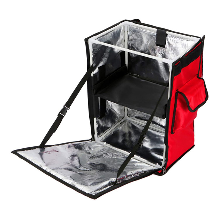 Insulated food delivery bag Custom Ultralight Durable Coolers Takeaway Heated Carry Hot Food Delivery  Backpack
