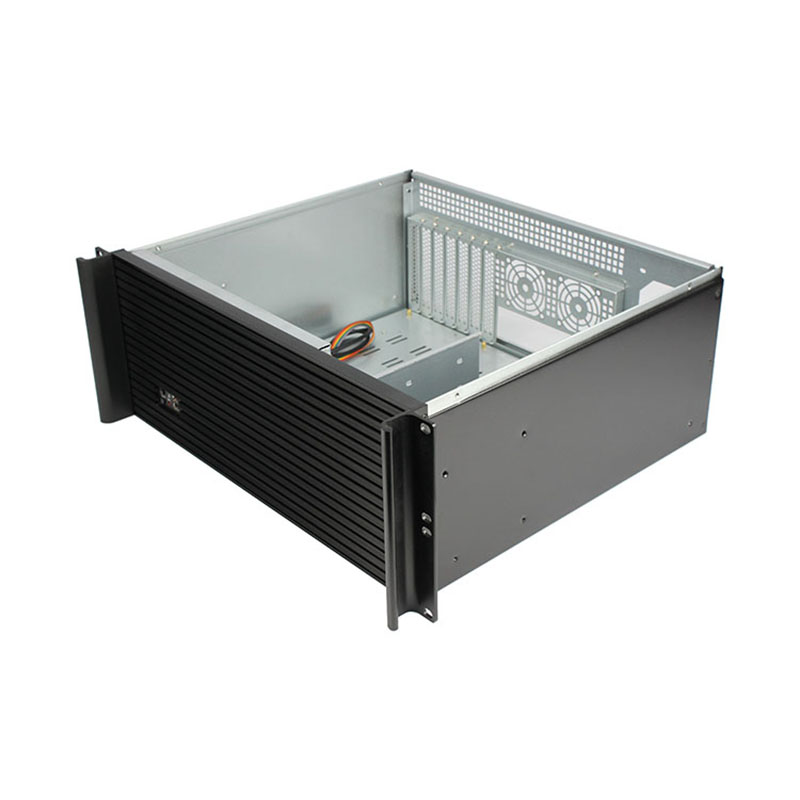Horizontal vent 4U desktop server chassis 390mm industrial dust-proof computer pc case for manufacture