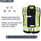 Vest Vests Safety Vest Wholesale Custom Logo Printed Safety Reflective Vest Traffic Security Guard Vests Work Black Construction Safety Vest