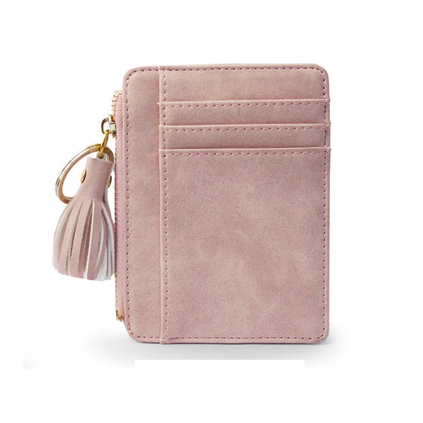 Мини-кошелек, женская кожаная сумка для кредитных карт, с кисточками, кошелек для монет, клатч, много карт, кошелек, прозрачный, для монет, ...(Китай)