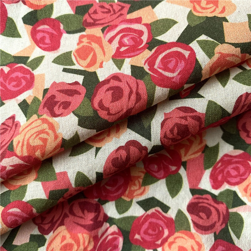 Textile Liberty Customized Printed 100% Cotton Fabric For Garments