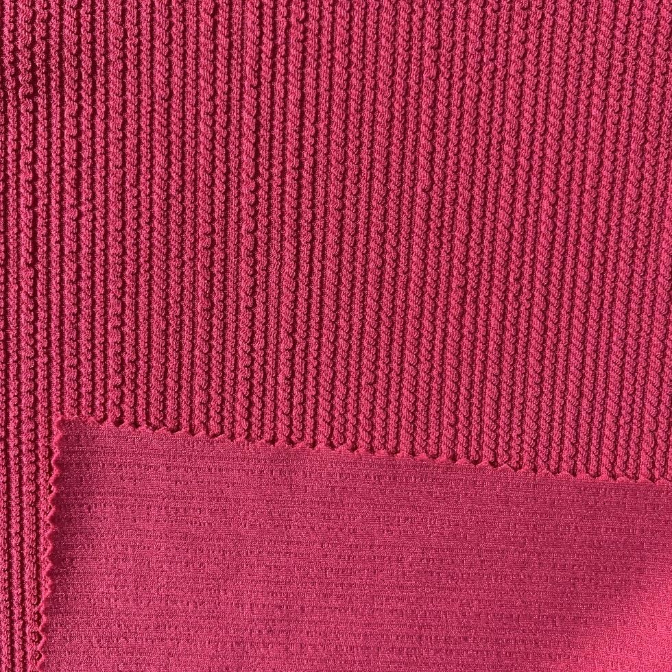 High quality knitted stripes crinkle seersucker ribs jacquard fabric for swimwear dress