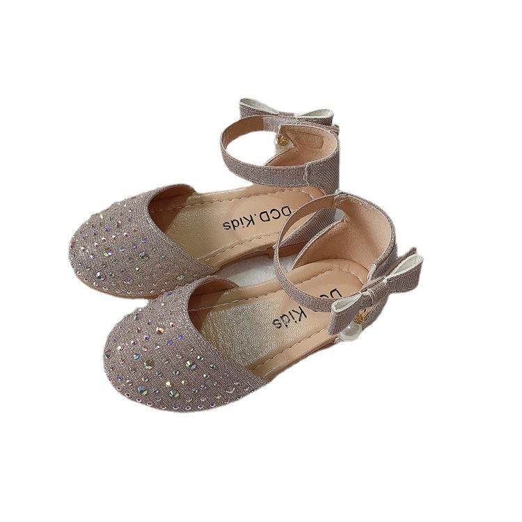 2021 детское праздничное платье высокого качества летняя обувь на мягкой подошве с украшением в виде кристаллов женские босоножки MSgx-30