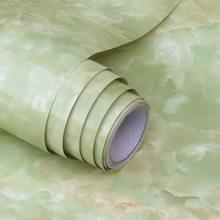 Толстые водонепроницаемые самоклеящиеся обои, наклейки из ПВХ с имитацией мрамора для мебели, кухни, обои для домашнего декора 60*100 см(Китай)