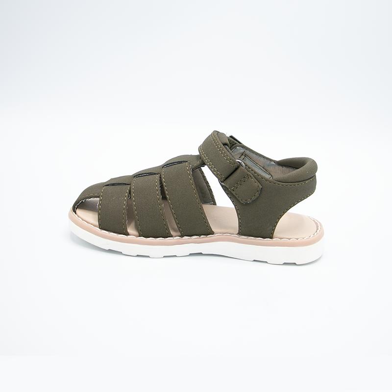 Лидер продаж от производителя, модная детская обувь с перекрестными ремешками, кожаная повседневная обувь, детские сандалии