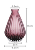 wine red mouthblown vase