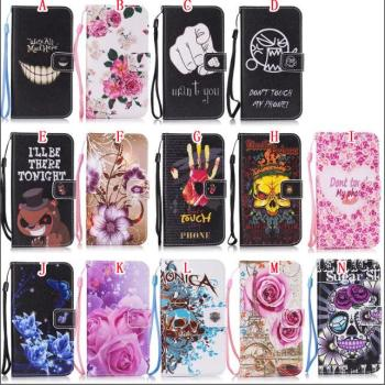 Flower Print Wallet Leather Case For Samsung S7 Edge S6 Edge S5 Mini S4 S3 Mini I8190 I9190 Flip Cover Don't Touch My Phone