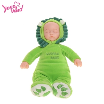 Latest design Lion Toy 3 lullabies music lifelike silicone function soft touch Baby Dolls