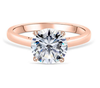 17;Rose Gold;Classic four claw single diamond ring