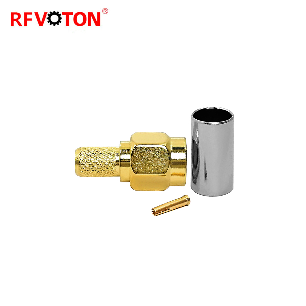 Multifunctional RP SMA male connector for RG58 cable